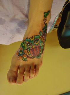 owl and flower tattoo - Google Search
