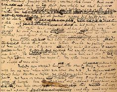 Dickens's A Christmas Carol was published on this day in 1843. Here's a page from the original manuscript: