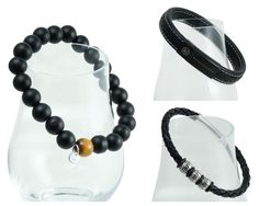"""The Cole collection - The name Cole represents not only the colour of these modern bracelets but also the """"warrior"""" within every man. Make Your Statement! Men Bracelets, Black Bracelets, Fashion Bracelets, Beaded Bracelets, Warrior Within, Bracelet Making, Gemstone Beads, Personal Style, Fashion Accessories"""