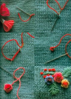 Have Fun with Silk-Ribbon Embroidery - Embroidery Patterns - Уроки по вышивке // Ирина Вдовина - Wool Embroidery, Silk Ribbon Embroidery, Cross Stitch Embroidery, Knitting Stitches, Free Knitting, Baby Knitting, Pull Crochet, Knit Crochet, Flower Embroidery Designs