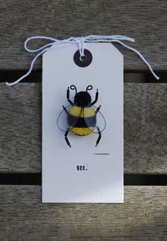 Felt Bee brooch by annelisenorman on Etsy