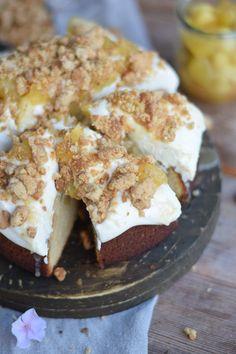 Knuspriger Apfel-Crumble-Kuchen mit Vanille 11