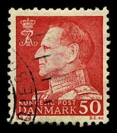 Denmark Post - King Frederik IX: Mine is brown