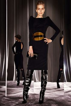 Tom Ford Dresses | Tom Ford Fall 2012 RTW Longsleeve Dress With Shoulder Pads Profile ...
