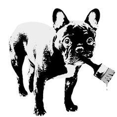 Prints on Canvas – BANKSY DOG* Berlin Street Art Canvas Print – a unique product by STREET-HEART on DaWanda