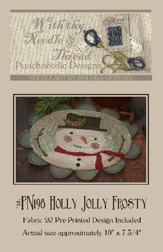 Holly Jolly Frosty Punch Needle Pattern by With thy Needle & Thread