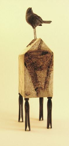 """anticipation"" found object assemblage by diane haddon"