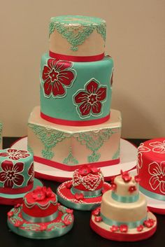 The Tiffany and Raspberry Series. LOVE LOVE LOVE. (White Flower Cake Shoppe)