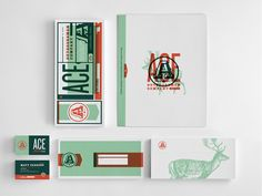 Collection of #stationery elements. Identity design. #branding
