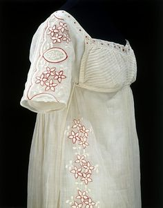 Embroidered muslin, ca 1808