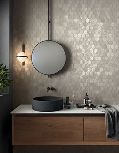 Discover Afterglow LY 05 of collection Lemmy: details, colors and settings of our porcelain tiles Hardwood Floors In Bathroom, Grey Bathroom Tiles, Grey Bathrooms, Bathroom Wall, Bathroom Ideas, Bar Lounge, Bathroom Interior Design, Interior Decorating, Outdoor Toilet