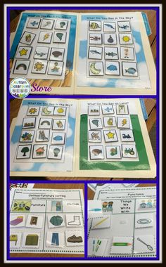 Receptive Vocabulary Sorting for Autism: File folders and worksheets to practice sorting by categories. Great for special education and early childhood.