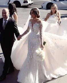 Mermaid Wedding Dress With Sleeves, Wedding Dress Train, Long Sleeve Wedding, Long Wedding Dresses, Mermaid Dresses, Wedding Dress Detachable Train, Lace Sleeve Wedding Dress, Stunning Wedding Dresses, Lace Sleeves
