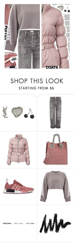 """Puffer Coats"" by deepwinter on Polyvore featuring Yves Saint Laurent, Citizens of Humanity, Elizabeth Roberts, Alexander Wang, Ivy Park, Pearls Before Swine and puffercoats"