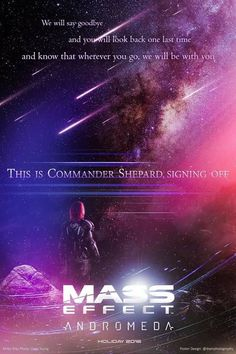 Mass effect Andromeda poster by Debadeep Sen - I might have teared up a bit at this...