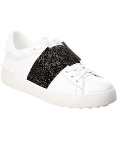 7a251f4e446 Love this by Valentino Sneakers | ModeSens #ModeSens# Valentino Crystal  Embellis... Valentino SneakersLeather SneakersDesigner ShoesLouis VuittonLeather  ...