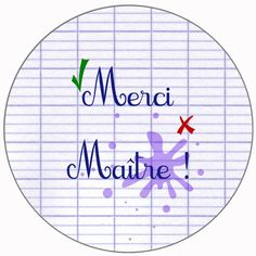 """Merci Maître """"Cahier d'écolier"""" Creation Bougie, Diy And Crafts, Paper Crafts, Paper Cutting, Outdoor Blanket, Cricut, Invitations, Messages, Handmade Gifts"""