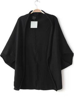 Black Batwing Sleeve Loose Knit Top 8.90