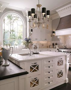 This kitchen is stunning!  Better yet it looks  as if you could really cook in it!