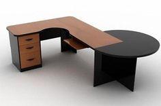 Escritorio con pedestal y mesa redonda.Fabricada en laminado plastico en diferentes colores a elegirEscritorio de 1.20x.60x.75mMesa circular de 80cm en color negro.Lateral con pedestal de 2 cajones papeleros y uno de archivoEntrega en 8 dias despues de elegir el color.