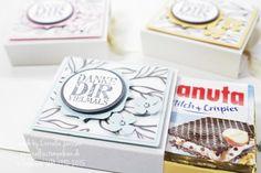 Mein kreativer Sonntag: Hanuta-Ziehverpackung mit Anleitung. Stempel und Papier von Stampin' UP!