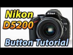 Nikon D5200 External Buttons | Training Tutorial Video Lessons Manual