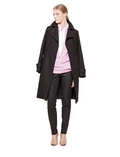 Akris Resort 2014 Check Coat, Cashmere Coat, Trench, Double Breasted, Duster Coat, Closure, Belt, How To Wear, Jackets