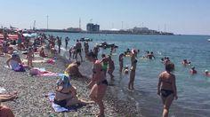 Пляж ривьера в Сочи. Суббота 16.07.2016 в 11:00.