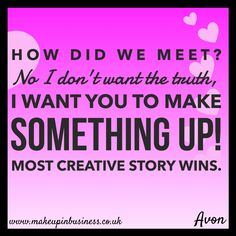 Join AVON online, become an AVON Representative and start earning today. Facebook Group Games, Facebook Party, Wedding Party Games, Birthday Party Games, Avon Party Ideas, Avon Ideas, Dare Games, Fb Games, Avon Facebook