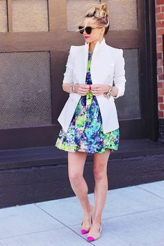 What should I wear with a white blazer? via @WhoWhatWear