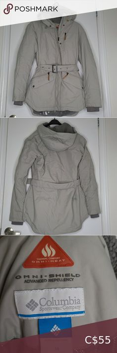 Columbia Omni Heat Coat Gray color. Great used conditioned other than some stains on the front pocket and the back of the coat (as pictured in the last 3 photos) Clean, however would suggest dry cleaning prior to wearing due to the pandemic. (Price will reflect this.) ***Disclaimer: All items are from a pet free & smoke free home. All items are accurately described and showcased in accurate condition. I will not accept returns if you do not like the item/it does not fit.*** Columbia Jackets… Long Jackets For Women, Columbia Sportswear, Down Parka, Brown Jacket, Plus Fashion, Fashion Tips, Fashion Trends, Dry Cleaning