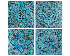 Mandala wall art made from ceramic.  This mandala wall hanging was carved in deep relief and no two pieces are exactly alike making each one truly unique.