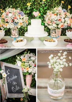 Outdoor Garden 1st Birthday Party via Kara's Party Ideas KarasPartyIdeas.com invitations, decor, cake and more! #gardenparty #firstbirthday ...