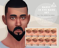 [TS4] Basic 10 Eye Bags Set for All - TAMO
