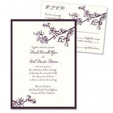 Vanessa 2-Layer Wedding Invitations - MyGatsby Invitations