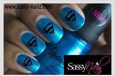 Superhero Nail Art Dress Up Superman Nail Superman Nails, Superhero Nails, Shellac Nails, Acrylic Nails, Nail Polish, Latest Nail Designs, Cool Nail Designs, Cute Nails, Pretty Nails