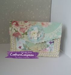 Gift Card box made using Sara Signature Shabby Chic collection – Designed by Mary Trainer #crafterscompanion #shabbychic