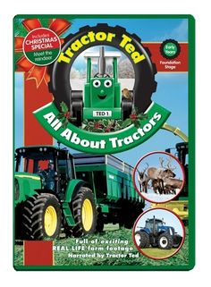 Oct 8 2013:  All About Tractors Christmas Edition DVD release.  Synopsis: Take a visit to a New Holland factory to see how a tractor is made, then Les shows us his shiny new tractor.  To order:  http://tractorted.co.uk/.All-About-Tractors-Christmas-Edition_DVDTRAC.htm