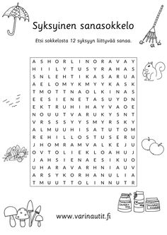 Syksy - Värinautit Primary Education, Special Education, Finnish Language, Teaching Aids, Happy Together, Coloring Pages For Kids, Growing Up, Classroom, Teacher