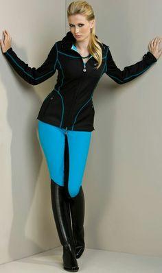 Blue riding breeches
