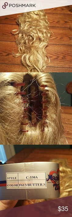 """21"""" Hair Extention Ponytail Worn once. Excellent condition. Clip on ponytail Magic Touch Accessories Hair Accessories"""