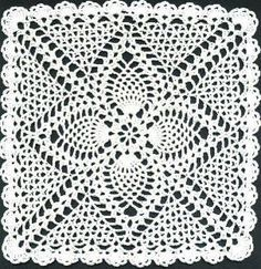 Square Pineapple Doily - free pattern