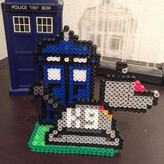 Doctor Who perler beads by anchorpointcreative