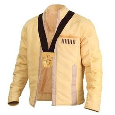 The well renown ceremonial jacket that Luke Skywalker wears in episode IV after destroying the Death Star and saving the rebel base from a horrific fate. This coat is an athletic cut, the ceremonial medal that Luke was rewarded is included with this jacket. All detail to this jacket and medal is true to Episode IV and is an identical replica of that found in Lucasfilm Archives. This fully licensed jacket comes with a nice clothing bag for protection, and certificate of authenticity.