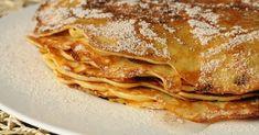 Almás palacsinta recept képpel. Hozzávalók és az elkészítés részletes leírása. Az almás palacsinta elkészítési ideje: 40 perc Waffles, Pancakes, Breakfast Recipes, Dessert Recipes, Hungarian Recipes, Hungarian Food, Sausage Recipes, Lasagna, Fudge