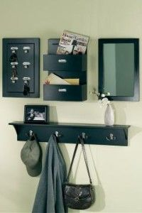 4piece wall organizer set something like it for the entry way