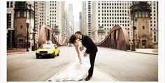 cute city wedding photo