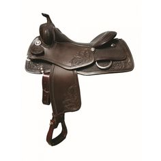 "Western Rawhide's FG Reining saddle by Jim Taylor with intricate hand tooling and featuring our new reining tree designed to keep the rider balanced and in contact with your horse. The little extras on this saddle make it a show piece as well as your number one ""go to"" saddle.  Reining Saddle 