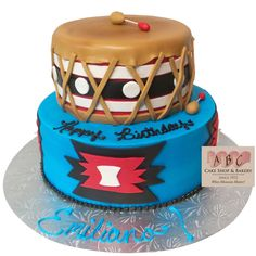 Native American Drum Birthday Cake #HappyBirthday #NativeAmerican
