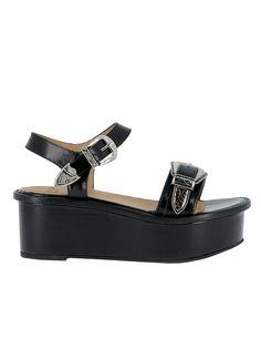 TOGA PULLA | Toga Pulla Toga Pulla Black Leather Sandals #Shoes #Sandals #TOGA PULLA